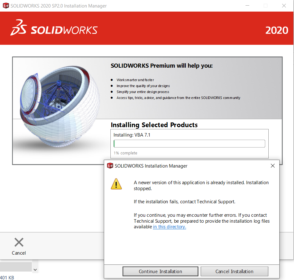 SolidWorks_2021_SP2_VBA_Preventing_2020_from_Installing.PNG